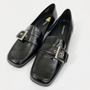Naturalizer Buckled Patent Leather Loafers Size 10